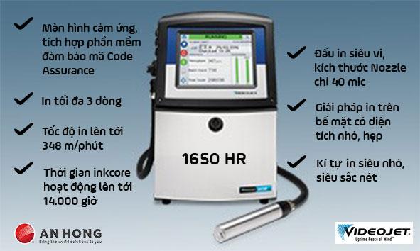 Máy in chữ siêu nhỏ Videojet 1650 HR