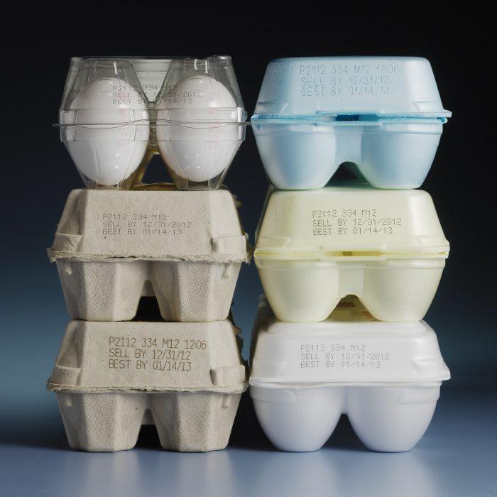 bản in date trên các laoij chất liệu của vỏ đựng trứng