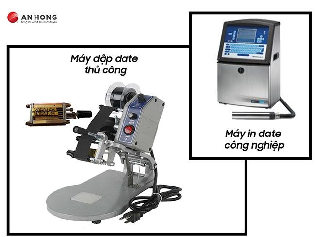 Máy dập date thủ công và máy in date công nghiệp