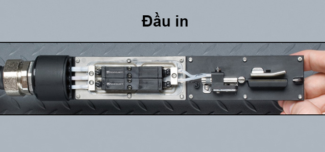 Cấu tạo đầu in dạng module của máy in date Videojet